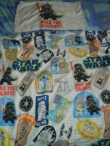 George Star Wars white multicoloured single duvet cover set