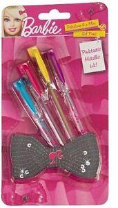 4 Barbie Mini Metallic Gel Pens