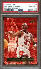 1995 Fleer Double Trouble Ultra Basketball #3 Michael Jordan PSA 8 52955423
