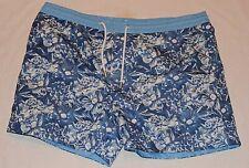 Thomas Royall Smart Men's Blue Floral Drawstring Swim/Beach Shorts RRP £70