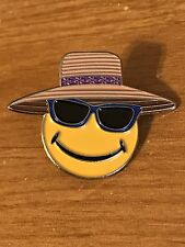 Walmart Lapel Pin Happy To Help Summer Hat Glasses Smiley Spark Promo Wal-mart