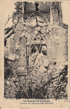 GUERRE 14-18 WW1 MEURTHE-ET-MOSELLE SEICHEPREY intérieur église