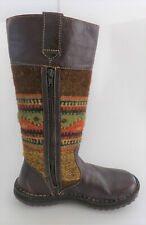 Brown Leather & Wool Women's Born Boots, Never Worn, Size 8.5, New
