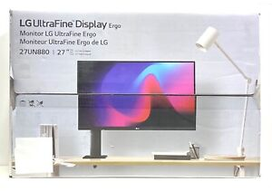 "LG 27"" UltraFine Display Ergo Stand UHD 4K HDR10 FreeSync Monitor 27UN880-B, NEW"
