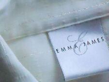 EMMA JAMES SheerLurexCheck3/4SlvPartySize8(Aus10)