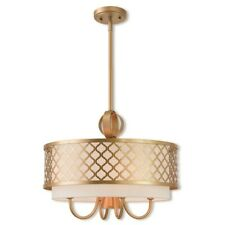 Livex Lighting Aresque 5 Light Pendant Chandelier in Soft Gold - 41104-33