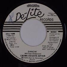 CROWN HEIGHTS AFFAIR: Dancin' USA DE-LITE Promo Funk Soul Disco 45 VG++