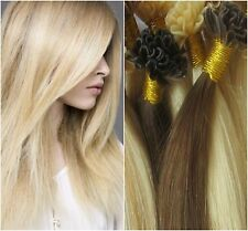 "Pre-Bonded Keratin U-Tip 22"" European Remy Hair Extensions 100 Strands Any Color"