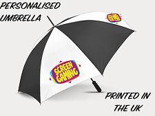 "Photo Graph Personalised Photo Custom Umbrella Golf Day Logo Business 60"""