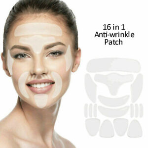 16* Anti-wrinkle Silicone Patch Reusable Facial Neck Patch Improve Skin Firmness
