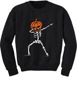 Halloween Dab Jack O' Lantern Dabbing Pumpkin Skeleton Youth Kids Sweatshirt