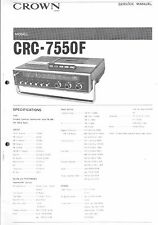 Crown ORIGINAL SERVICE MANUAL per MODEL CRC 7550 F