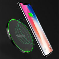 Qi 10W Wireless Fast Charger Charging Pad For Samsung Note 8 S9 iPhone X 8Plus*t