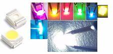 10 LED SMD 3528 ALTA LUMINOSITA' BIANCHI BLU ROSSO VERDE GIALLO Diodi luce PLCC