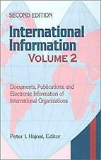 International Information Vol. 2 : Documents, Publications, and Electronic Infor