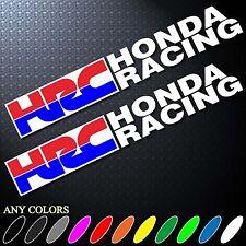 "9.5""X2P CLR HRC HONDA RACING TEAM STICKER DIE CUT AUTO MOTOR SPORTS CAR BIKE"