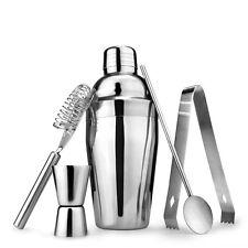 5pcs/Set Cocktail Shaker Stainless Steel Bartender Tool Mixer Drink Bar 750ml