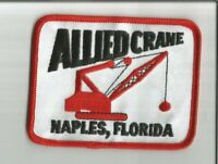 Allied Crane Naples Florida advertising patch 2-3/4 X 3-5/8 #1387