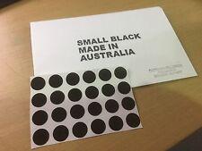24 BLACK 12mm  Pool Snooker Billiard Table Dots -Stick on Spots + INSTRUCTION