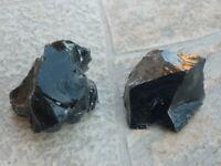 cristalloterapia OSSIDIANA NERA GREZZA A++ mineralogia roccia naturale minerale