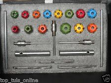 14 pcs VALVE SEAT CUTTER KIT CARBIDE TIPPED WITH 3 STEMS + 3 REMR+2 DRV ARBOURS