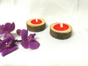 2XTree Branch Wooden Candle Holder  Rustic Wood Tea Light for Candlelight Dinner
