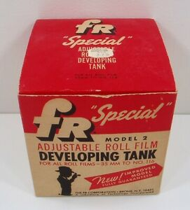 Vintage FR Special Adjustable Roll Film Developing Tank NOS Model 2 NEW Unused