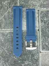 New 22mm Blue PU Rubber Strap Tang Diver Band 20mm Tongue Buckle OMEGA 22