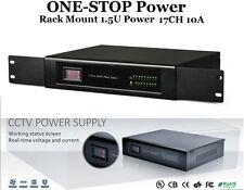 ONE-STOP Rack Mount Power Supply 1.5U DC12V 17Port 10A UL Listed For CCTV Camera