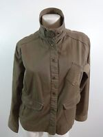 CHICOS WOMENS BROWN COTTON BLEND JACKET SIZE 2 SUPER CUTE!!