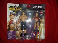 WWE Wrestle Mania Battle Action Figures John Cena and Nikki Bella NIP