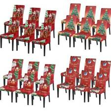 Dining Chair Cover Kitchen Slipcover Christmas Party Banquet Xmas Seat Covers