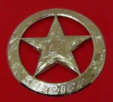 More details for gold electroplate sterling silver franklin 1987 deputy sheriff police badge 14g