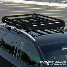 "UNIVERSAL 50"" BLK ROOF RACK BASKET TRAVEL LUGGAGE HOLDER TRAY W/INSTRUCTION TP16"