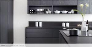 Otto Black Marble Laminate, Burbidge, Complete Kitchen Doors and Rigid Units