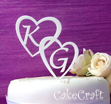 Acrylic initial letters Personalised Wedding Engagement cake toppers decoration