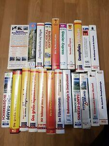 Konvolut VHS Video-Kasetten, Eisenbahn, Eisenbahn-Romantik, Rio-Grande