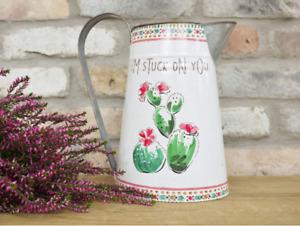 Decorative Cactus Pitcher Jug Artificial Flowers Vase Pot Valentine Decoration