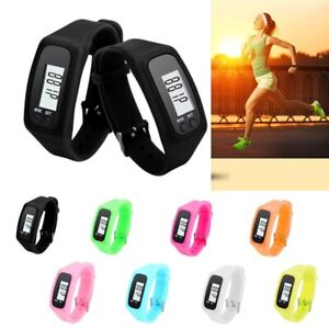 LCD Sports Watch Fitness Tracker Pedometer Jogging Step Distance Calorie Counter