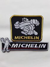 MICHELIN MAN TYRES CLASSIC MOTORSPORT RACING CAR EMBROIDERED PATCH X2 UK SELLER
