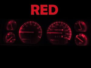 Gauge Cluster LED Dashboard Bulbs Red For Jeep 84 96 Cherokee Wagoneer