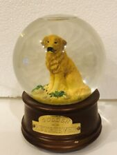"San Francisco Music Box Co GOLDEN RETRIEVER Dog Snow Globe ""My Favorite Things"""