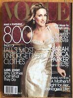 Vogue Magazine September 2005 Sarah Jessica Parker Gisele Bundchen Karen Elson