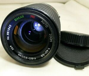 Sakar 80-200mm f4-5.6 manual focus for Pentax KR KA A mount digital