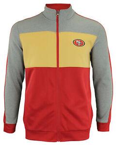 OuterStuff NFL Youth Boys Performance Full Zip Stripe Jacket , San Francisco 49e
