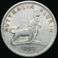 1954 | Australia Elizabeth II Florin | Silver | Coins | KM Coins