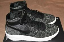 NEW NIKE MEN AIR FORCE 1 ULTRA FLYKNIT MID BLACK WHITE SHOES 817420-004 SIZE 9
