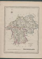 Carte antique Westmorland c. 1840 Walker ref.c.08