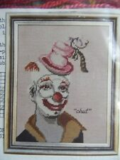 """EUNICE BEAM Counted Needlepoint Pattern - ANDRE THE CLOWN Circus """"Chut"""""""