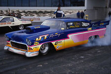 573033 A Custom 56 Chevy Cleans And Heats Its Big Back Tires A4 Photo Print